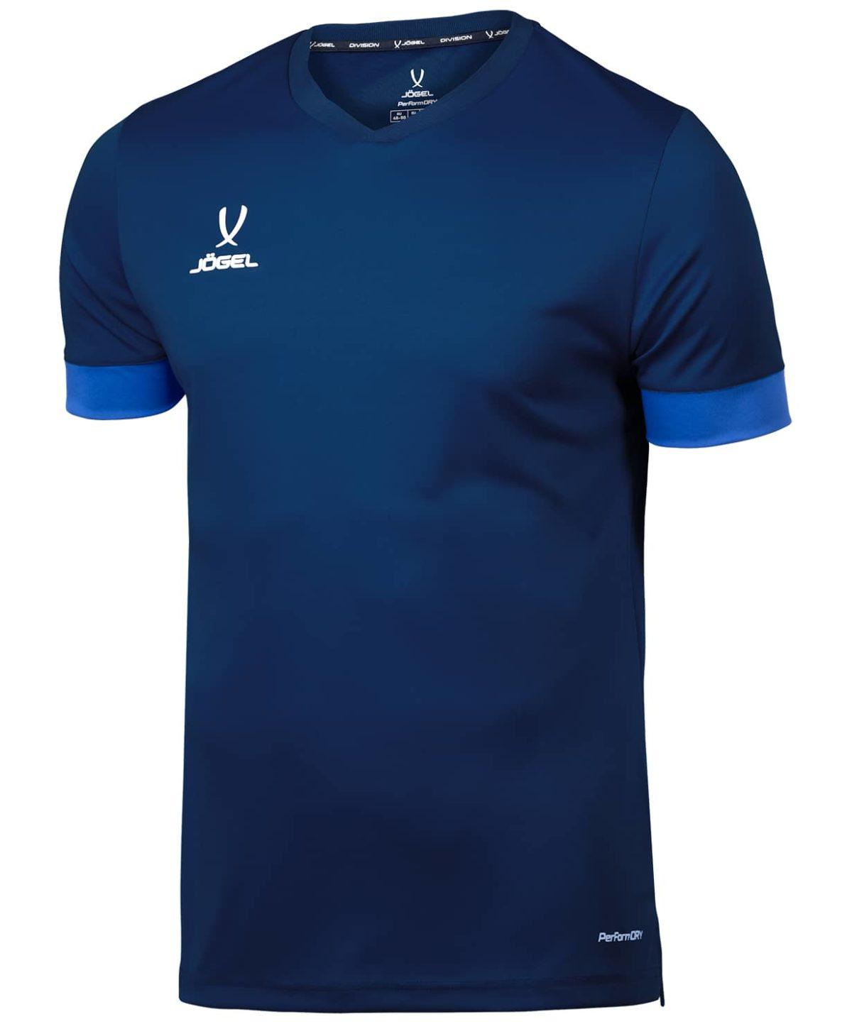 JOGEL DIVISION футболка футбольная детская  Union Jersey: т.синий/синий/белый - 1