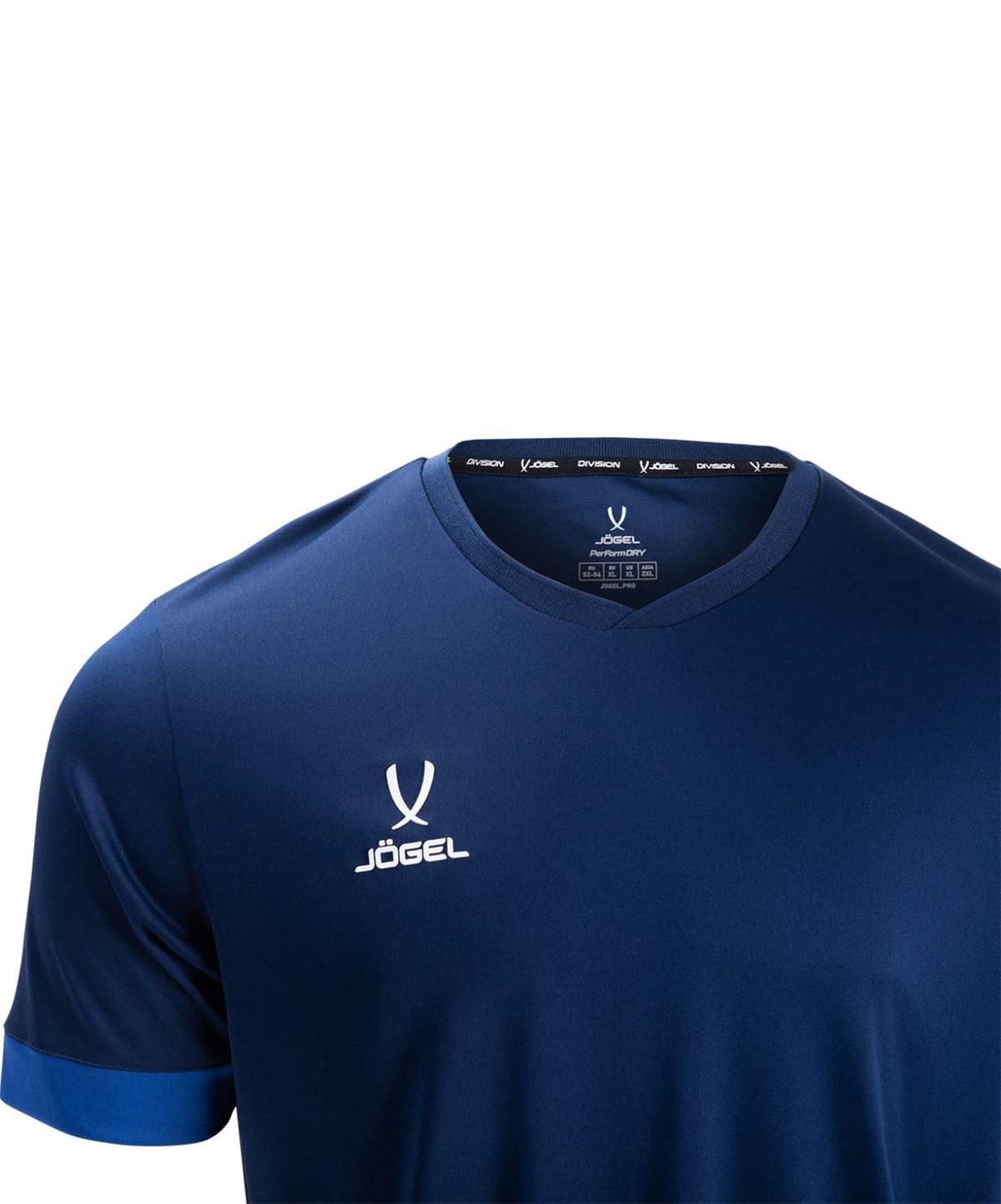 JOGEL DIVISION футболка футбольная детская  Union Jersey: т.синий/синий/белый - 3