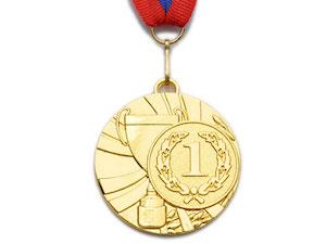 SPRINTER Медаль наградная с лентой, d - 5 см  5200-4 - 1