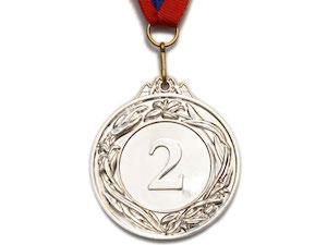 SPRINTER Медаль наградная с лентой, d - 5,3 см  530: серебро - 1