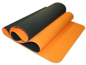 SPRINTER Коврик для йоги перфорированный  00400 180х61х0,5 см: оранжевый/чёрный - 4