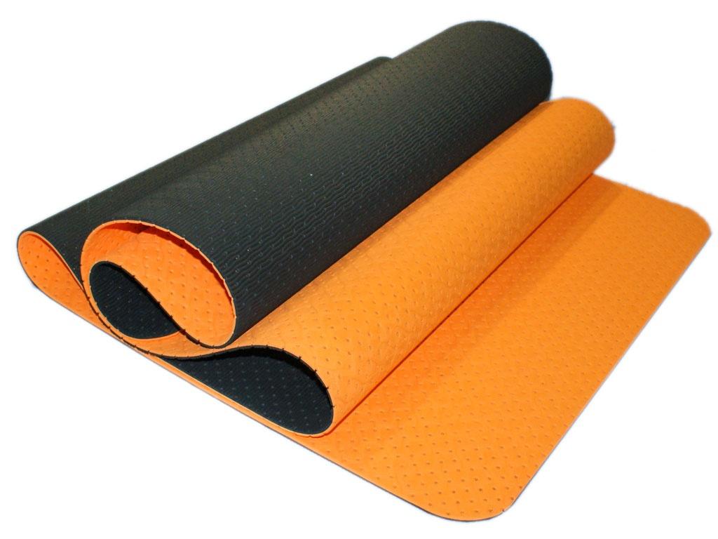SPRINTER Коврик для йоги перфорированный  00400 180х61х0,5 см: оранжевый/чёрный - 1