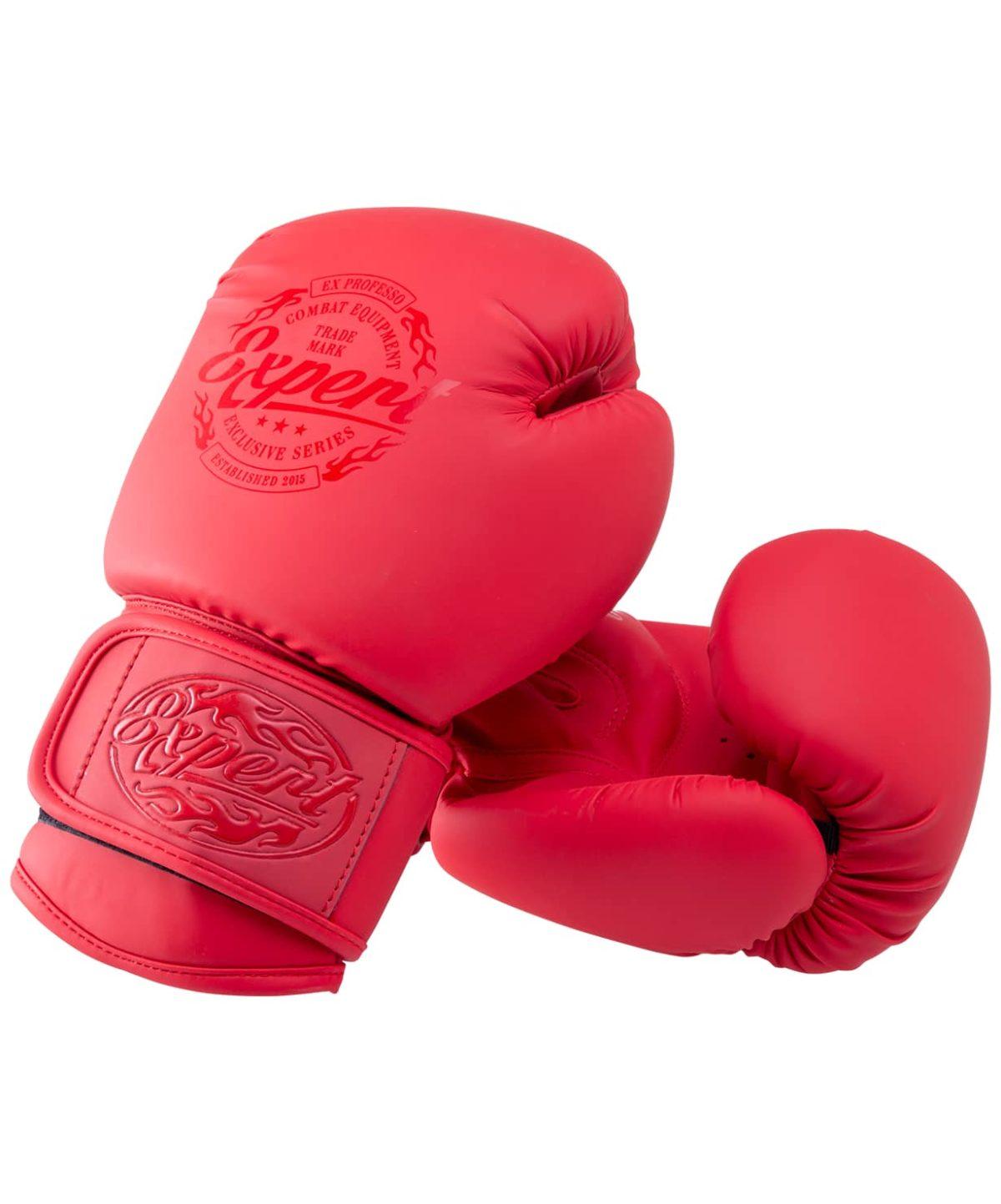 FIGHT EXPERT Перчатки боксерские 10 oz  BGS-V010: красный - 1