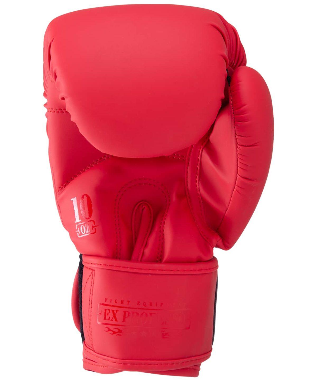 FIGHT EXPERT Перчатки боксерские 10 oz  BGS-V010: красный - 4