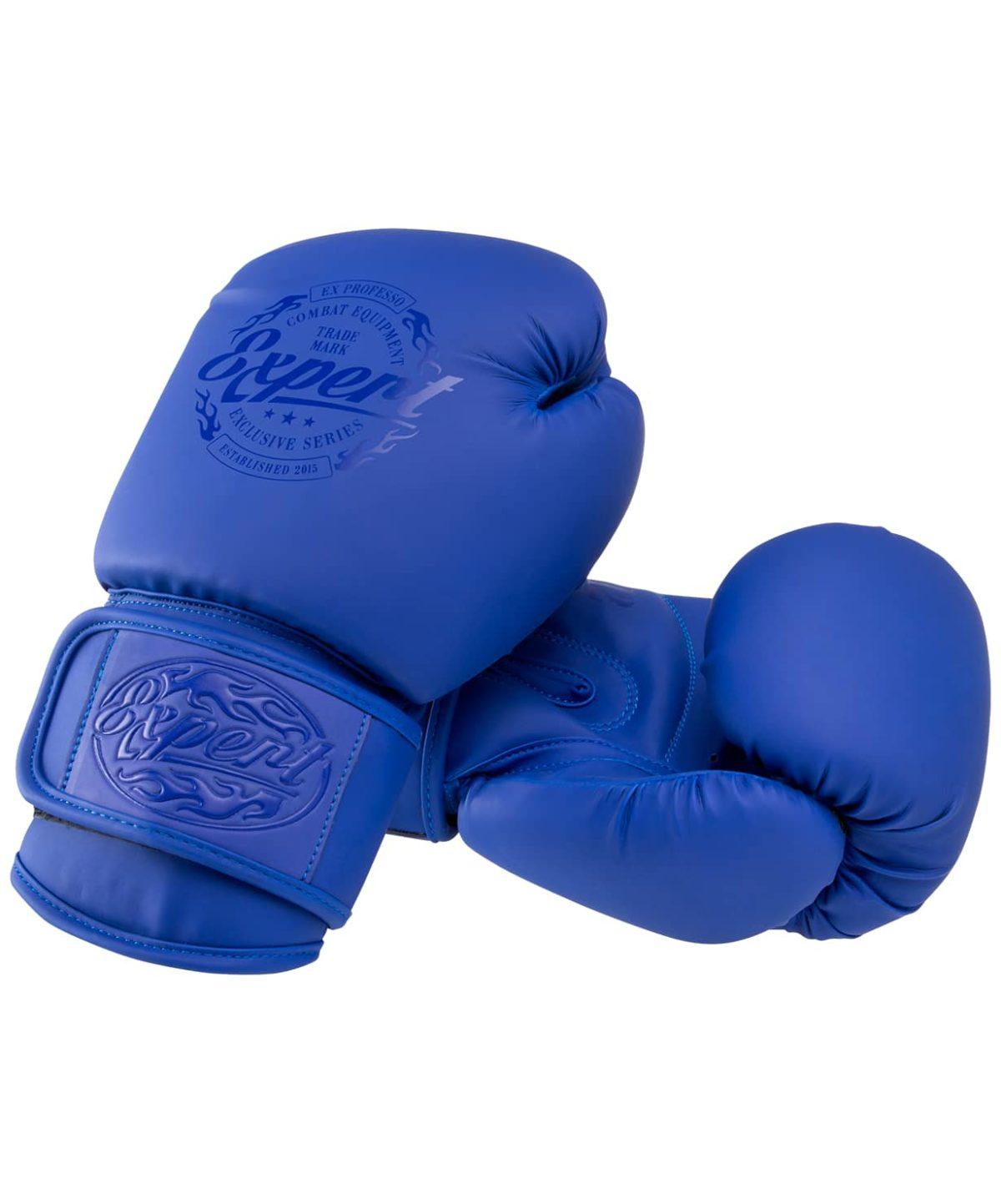 FIGHT EXPERT Перчатки боксерские 10 oz  BGS-V010: синий - 1