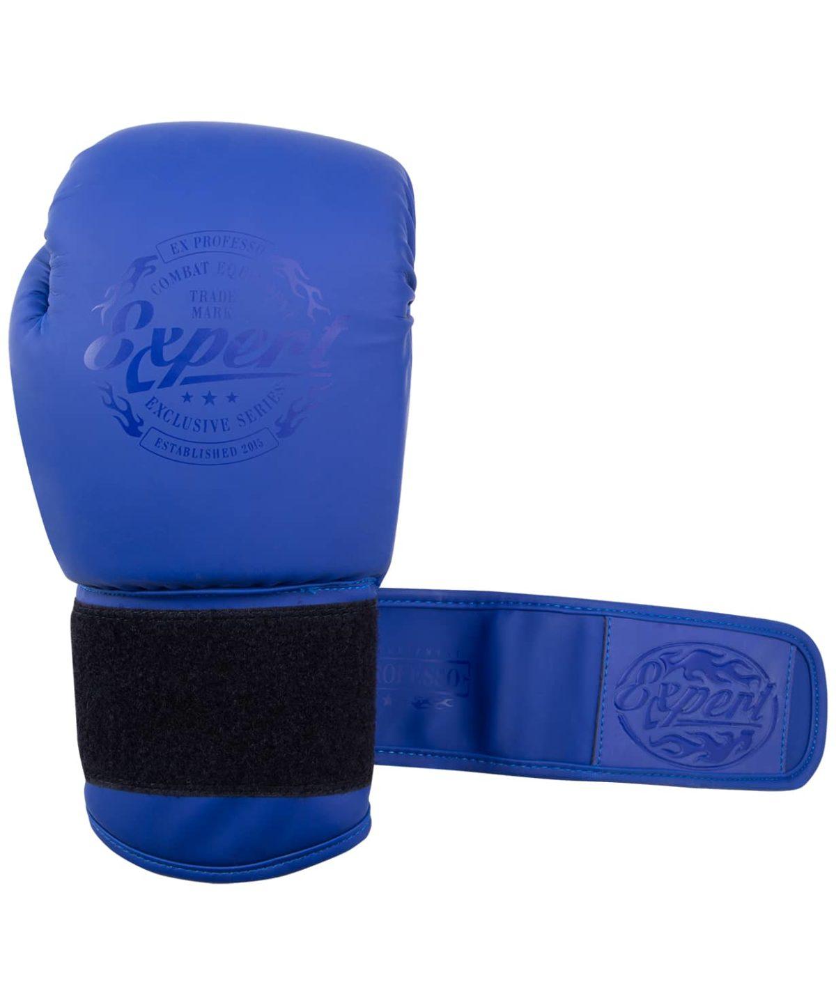 FIGHT EXPERT Перчатки боксерские 10 oz  BGS-V010: синий - 3