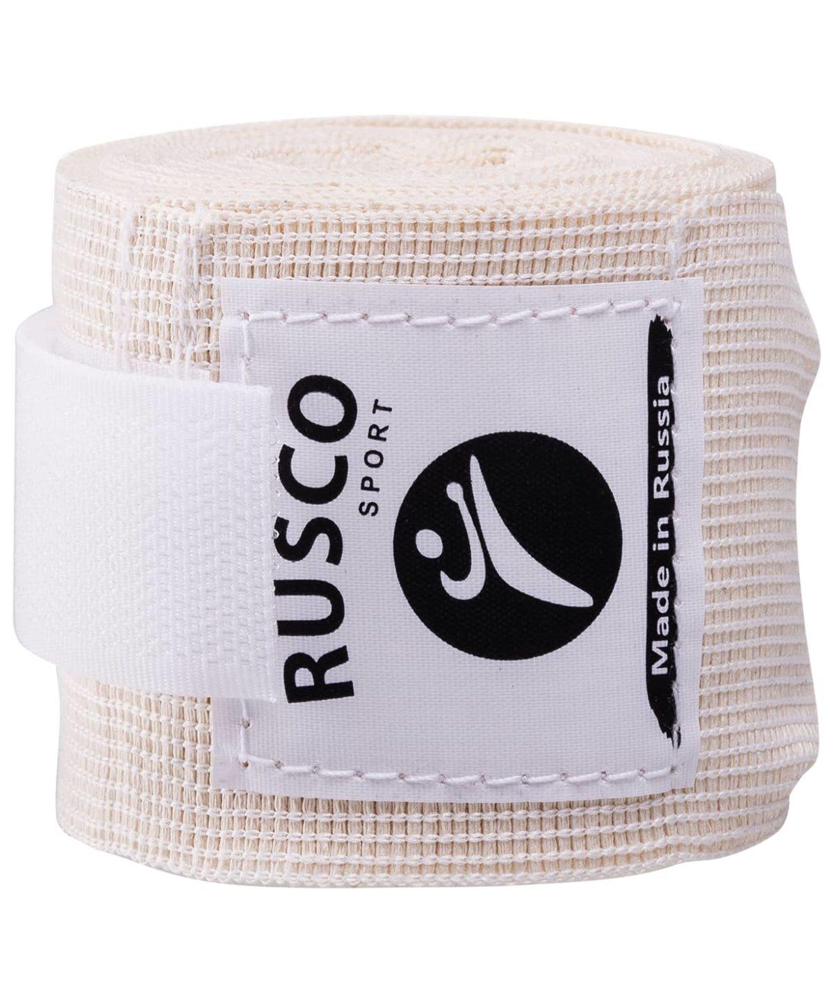 RUSCO Бинт боксерский, 3,5м, хлопок  126: белый - 3