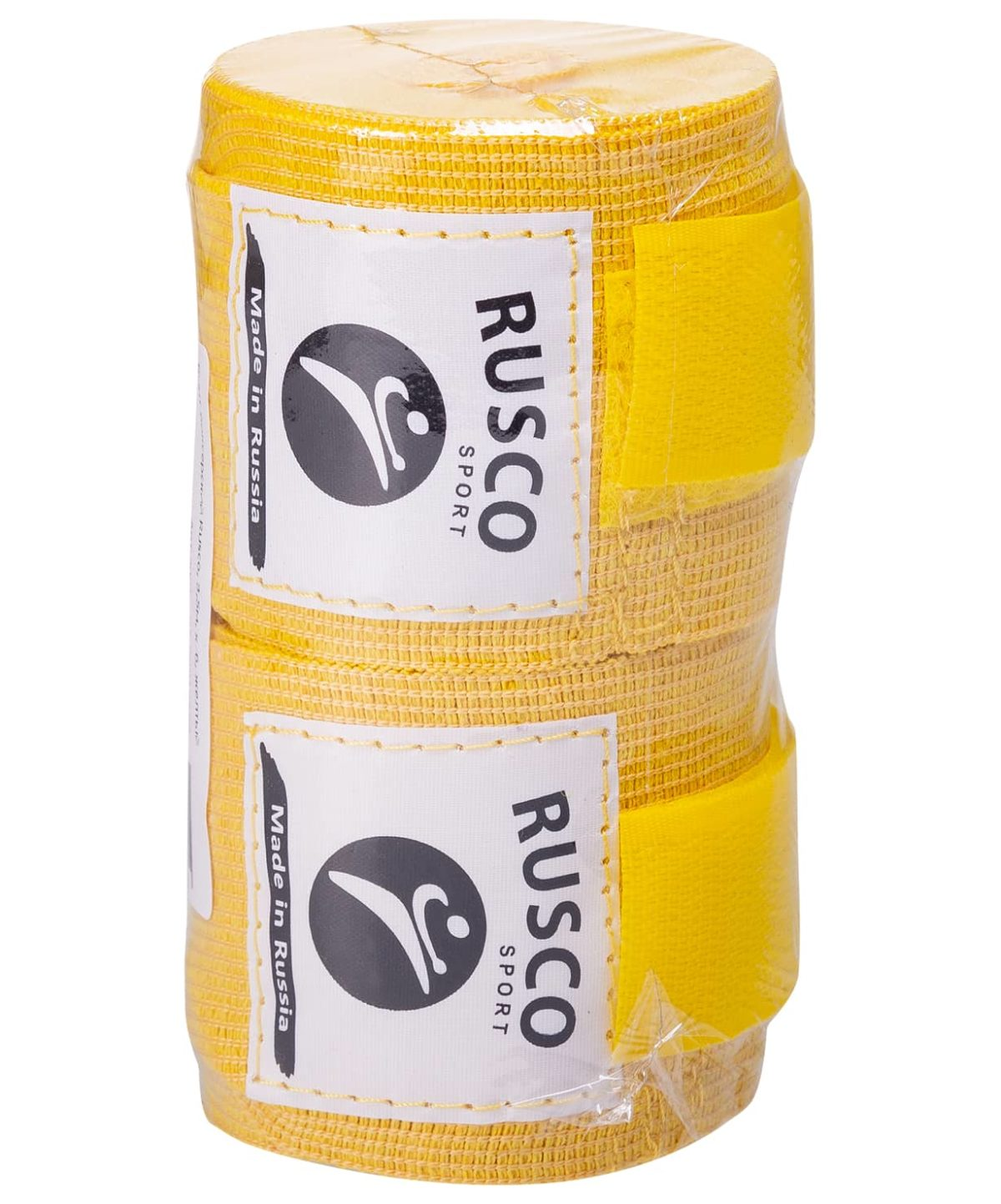 RUSCO Бинт боксерский, 3,5м, хлопок  126: жёлтый - 2