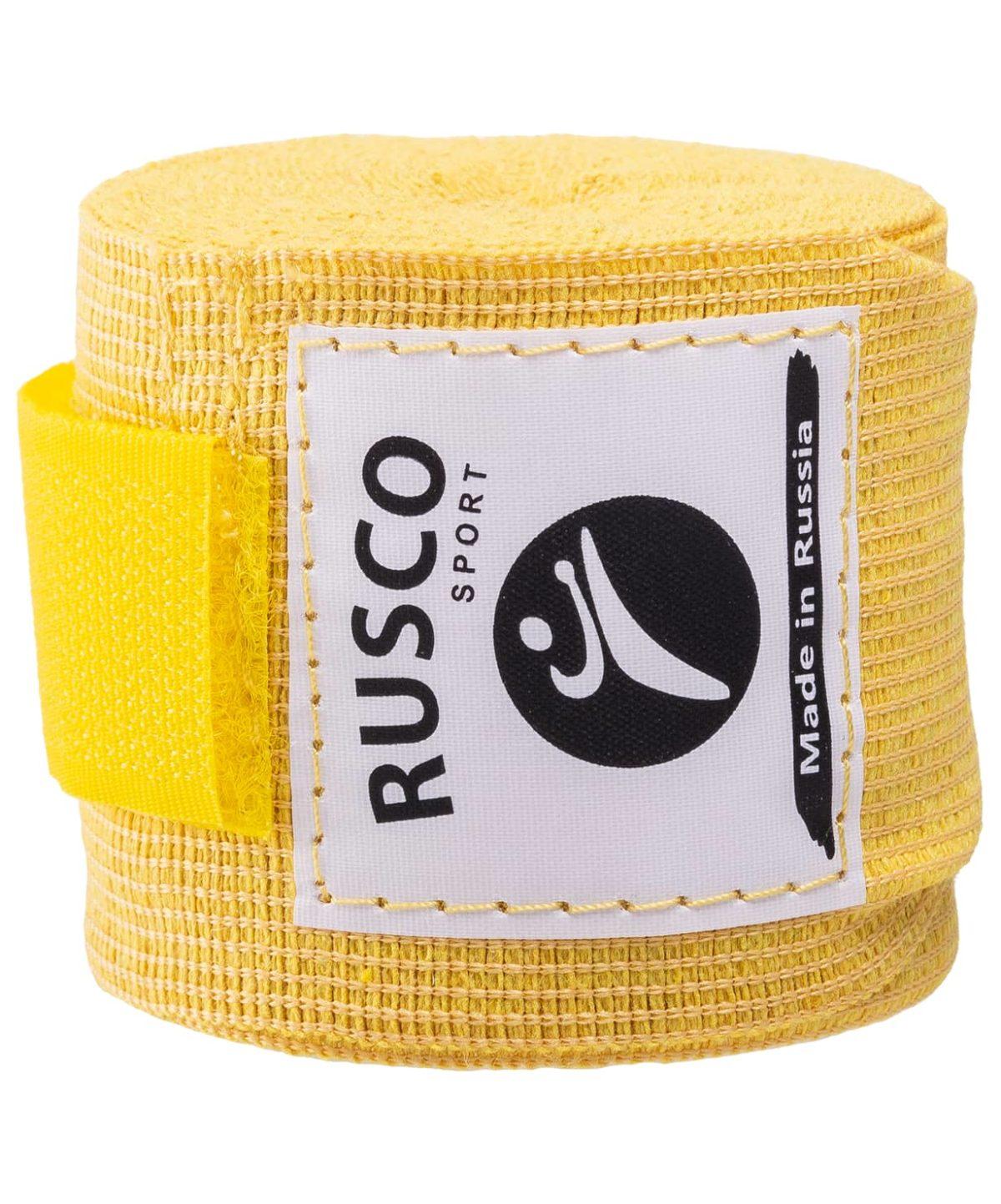 RUSCO Бинт боксерский, 3,5м, хлопок  126: жёлтый - 3