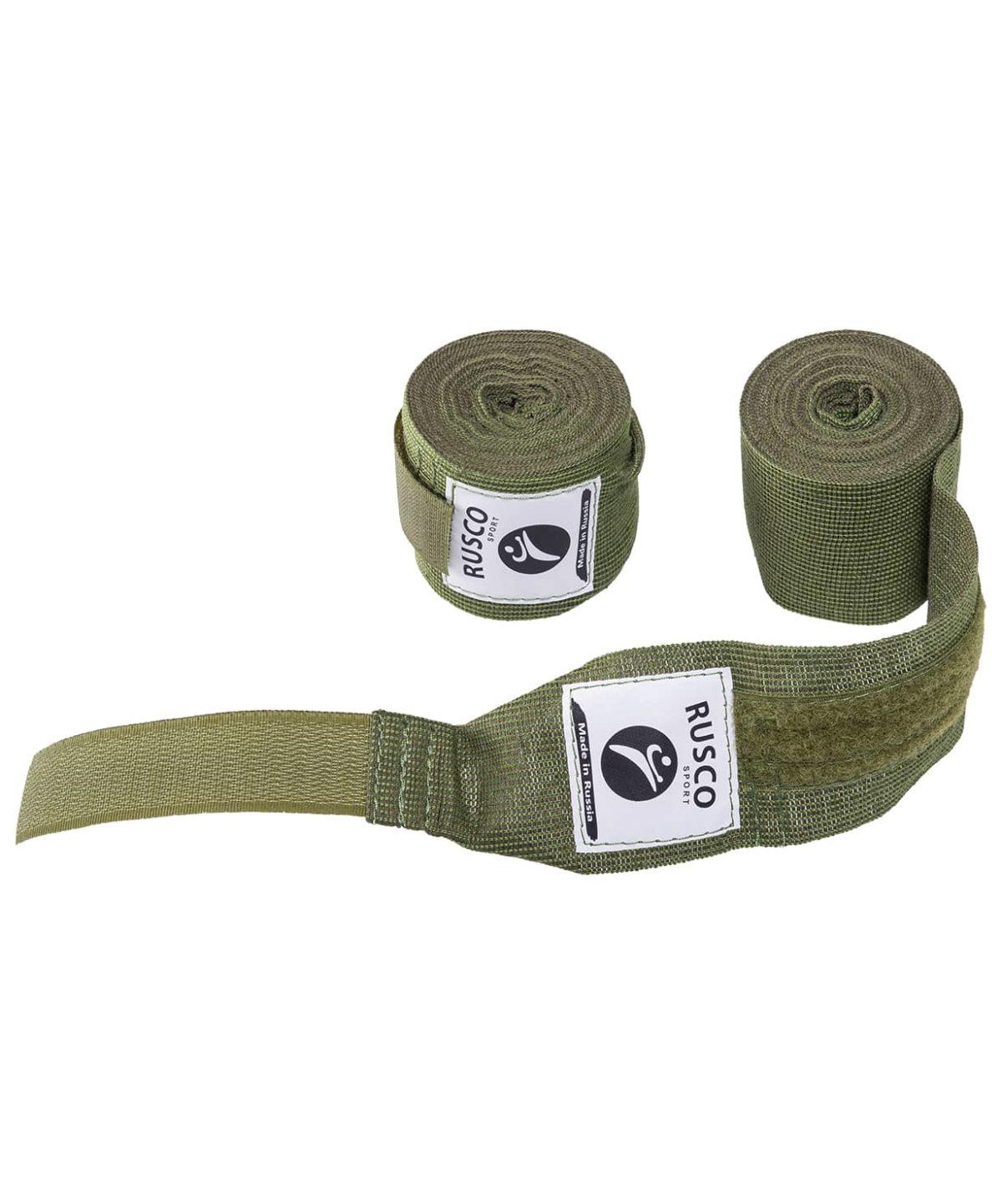 RUSCO Бинт боксерский, 3,5м, хлопок  126: хаки - 1