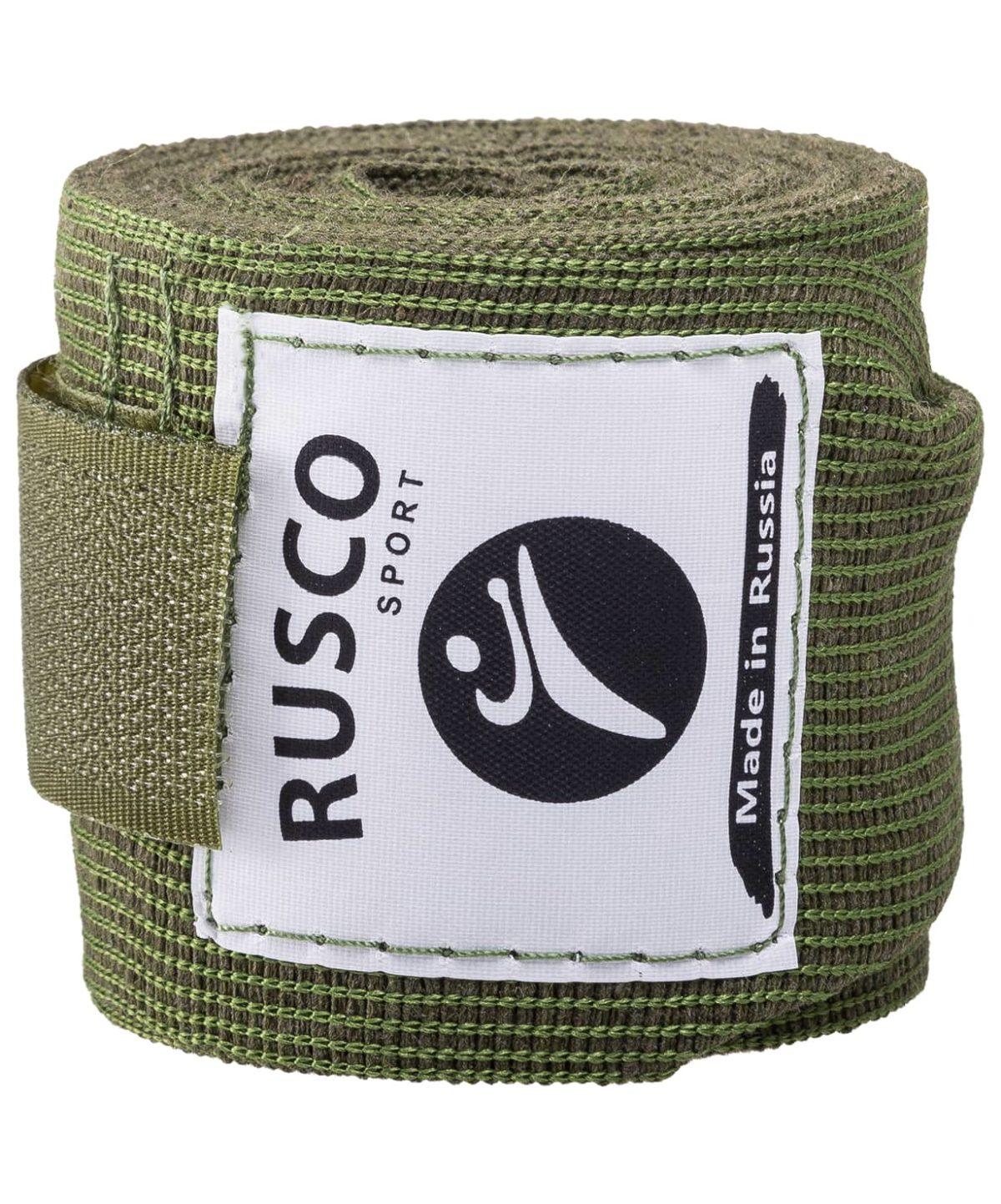 RUSCO Бинт боксерский, 3,5м, хлопок  126: хаки - 3