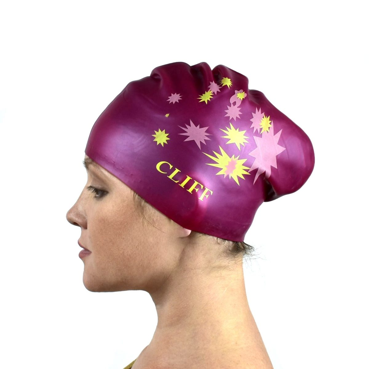CLIFF Шапочка для плавания силикон. д/длинных волос  CS13: бордовый - 1
