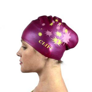 CLIFF Шапочка для плавания силикон. д/длинных волос  CS13: бордовый - 10