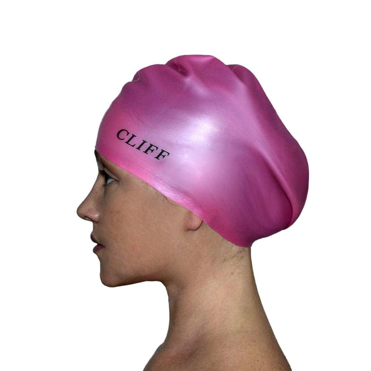 CLIFF Шапочка для плавания силикон. д/длинных волос  CS13/2: розовый - 1