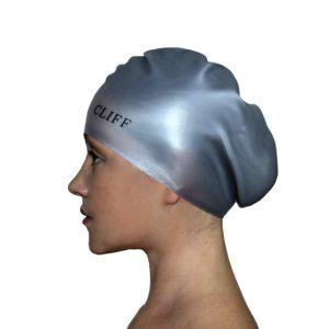 CLIFF Шапочка для плавания силикон. д/длинных волос  CS13/2: серый - 15
