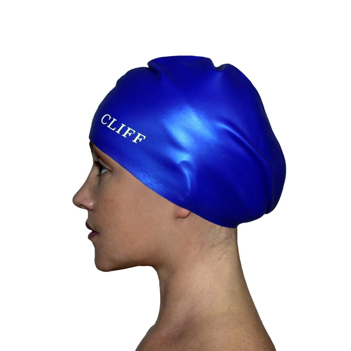 CLIFF Шапочка для плавания силикон. д/длинных волос  CS13/2: синий - 1
