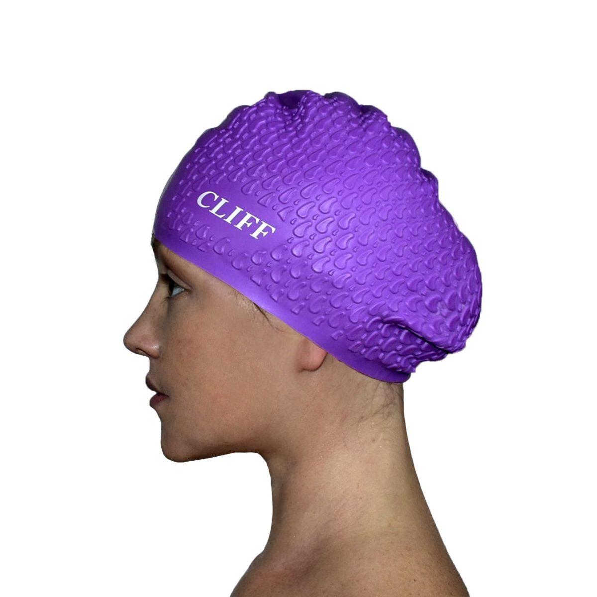 CLIFF Шапочка для плавания силикон. д/длинных волос  CS17 - 1