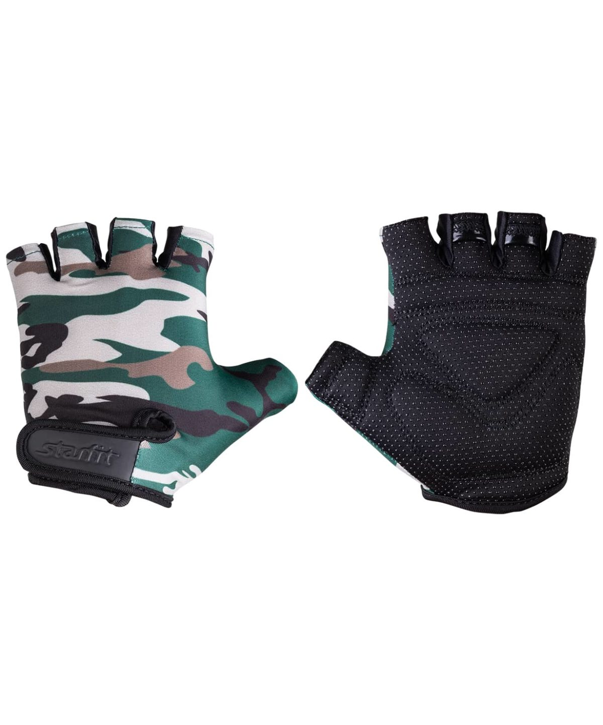 STARFIT перчатки д/фитнеса  SU-126: хаки - 1