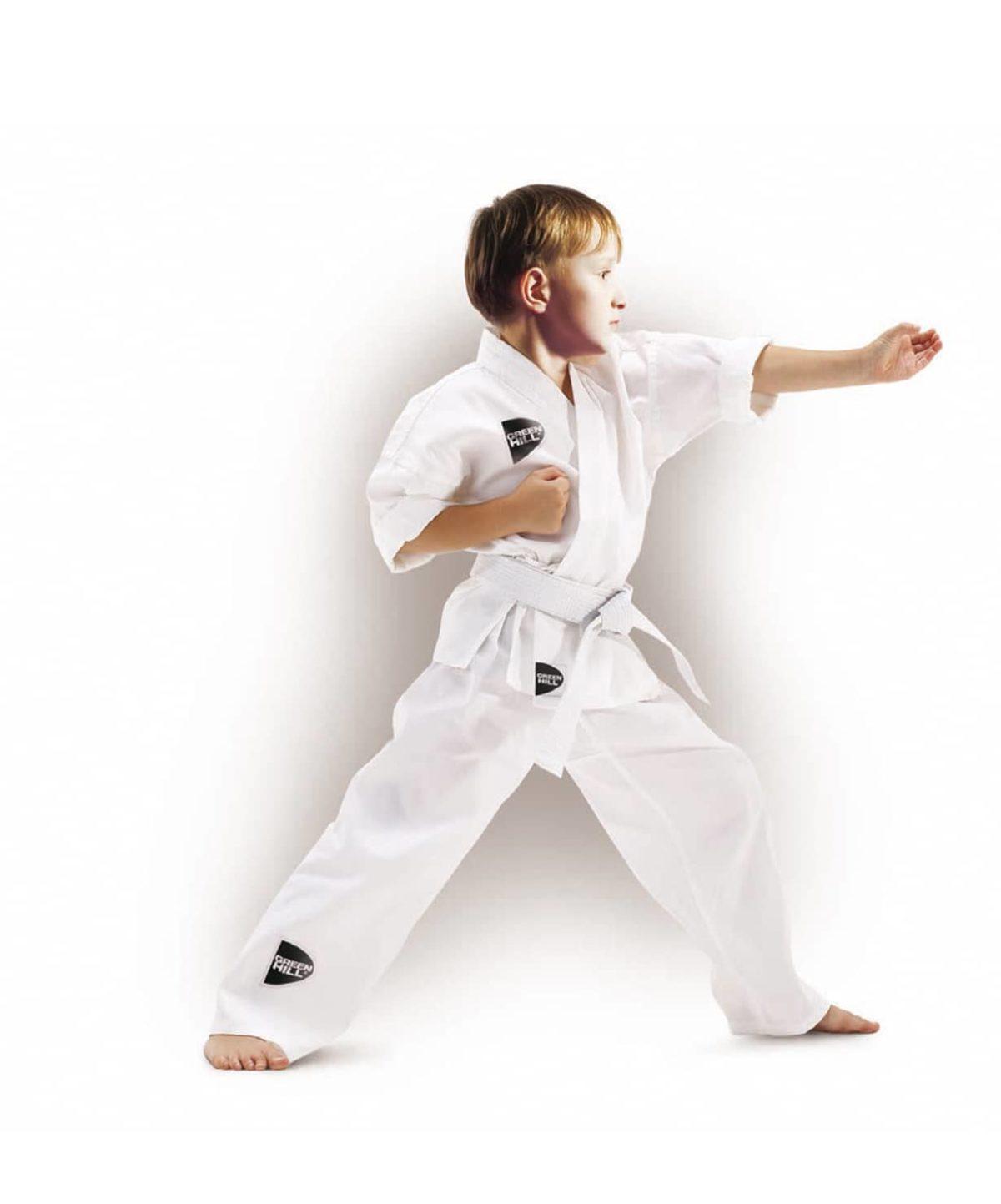 GREEN HILL Junior Кимоно для карате 0/130  KSJ-10054 - 1