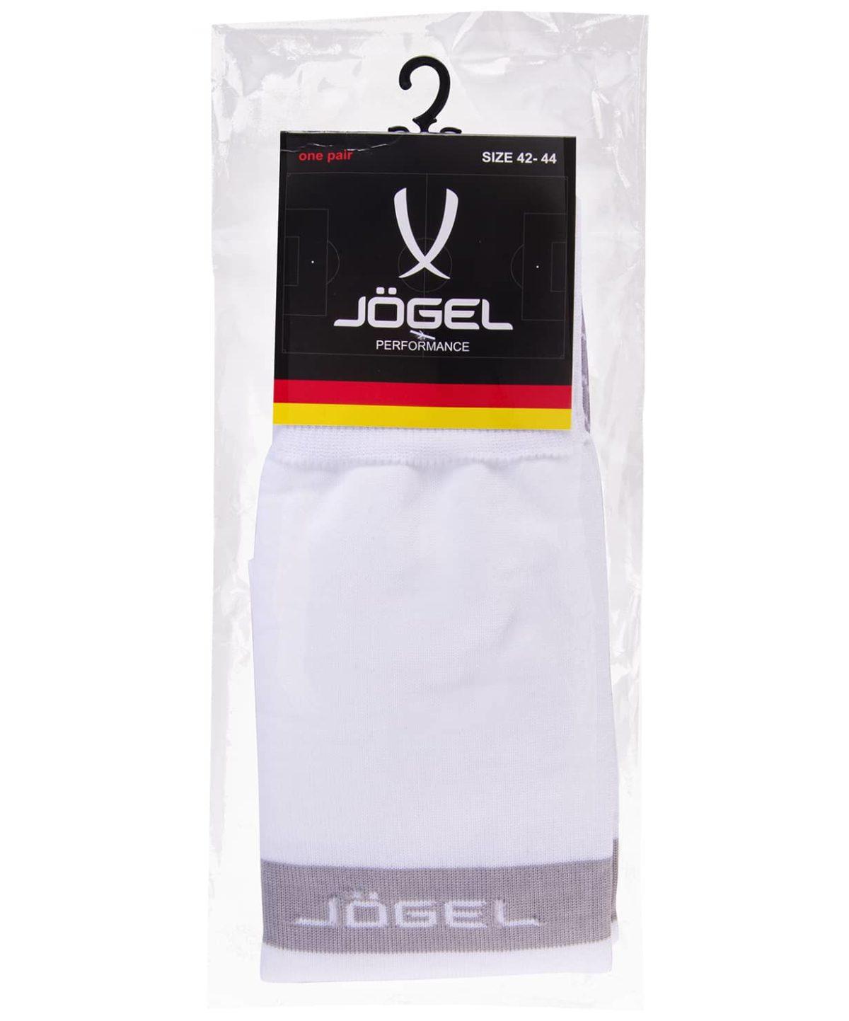 JOGEL Гетры футбольные белый/серый  JA-003 - 3