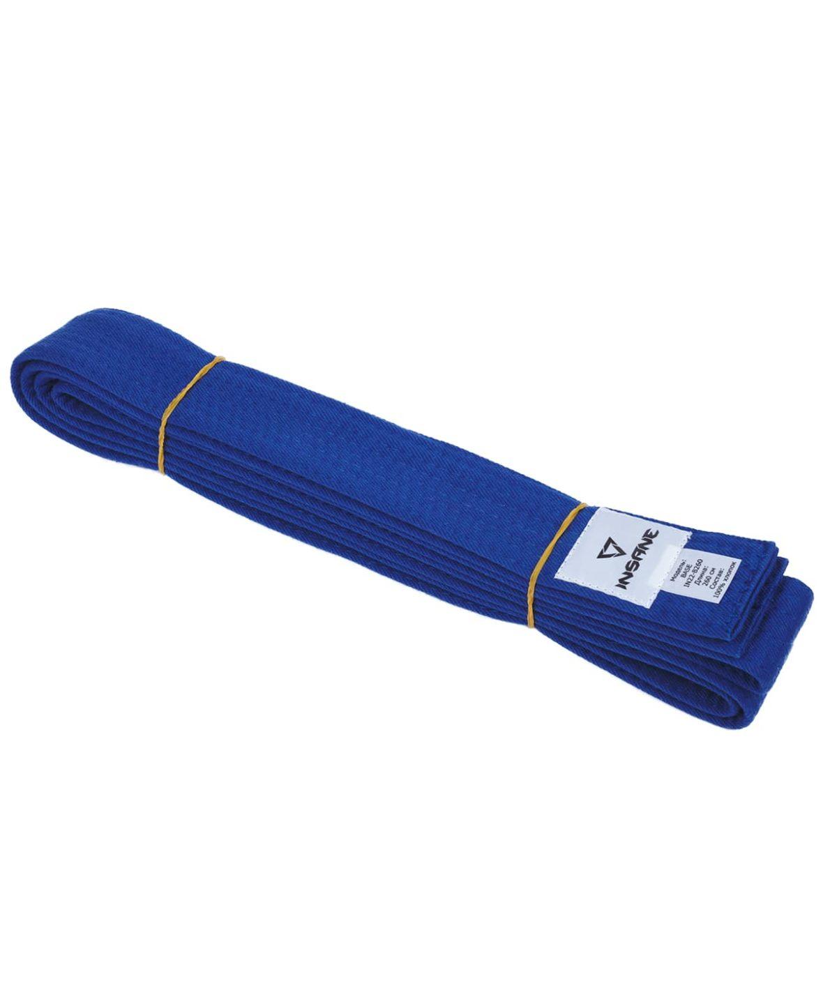 INSANE Пояс для единобоств BASE х/б, 260 см  IN22-B260: синий - 1