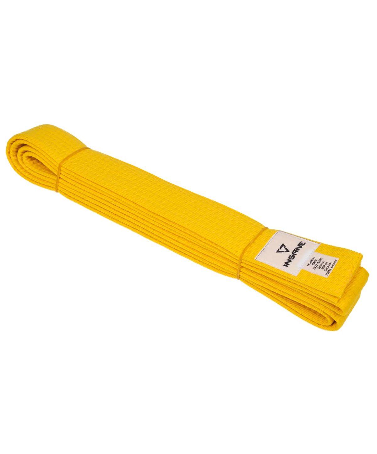 INSANE Пояс для единобоств BASE х/б, 240 см  IN22-B240: жёлтый - 1