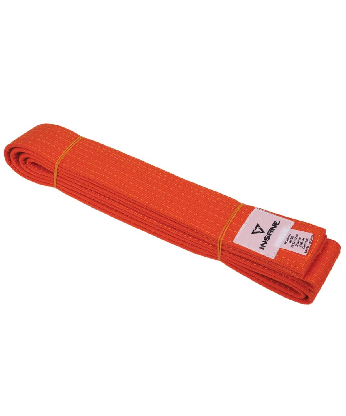 INSANE Пояс для единобоств BASE х/б, 240 см  IN22-B240: оранжевый - 1