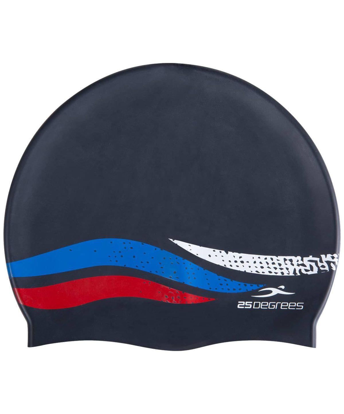 25DEGREES Шапочка для плавания Russia JR, подростк. силикон  25D21005J: чёрный - 2