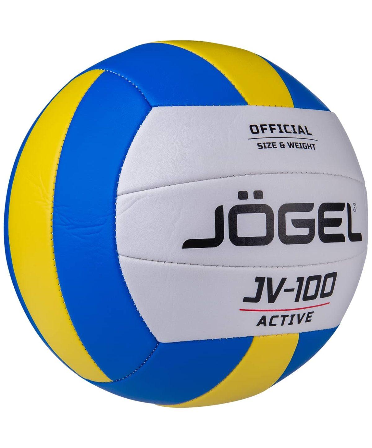 JOGEL мяч волейб.  JV-100 (BC21): синий/желтый - 2